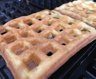 Two Minute Two Ingredient Low Carb Waffles #lchf