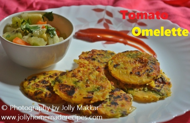 Tomato Omelette Recipe, How to make Vegetable Tomato Omelette | Vegan Omelette Recipe