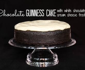 Chocolate Guinness Cake, with white chocolate cream cheese frosting!
