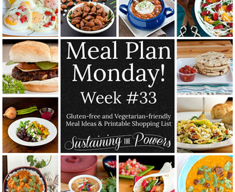 Meal Plan Monday Week 33 – Low Carb Week!
