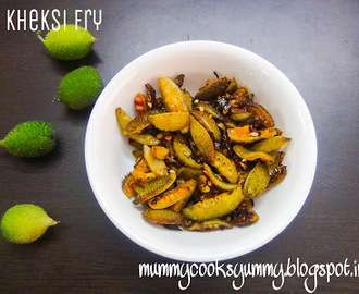 Kheksi fry recipe / How to make Khaksi fry sabzi / Kantola fry recipe / Spiny gourd stir fry recipe