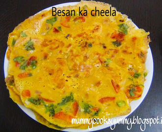 Besan ka cheela recipe / How to make Besan ka cheela / Besan cheela recipe / How to make vegetable eggless omlette