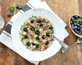 Brown Rice Salad with Blueberries, Mint and Toasted Pecans