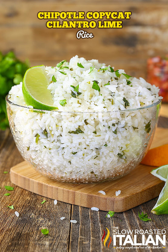 Chipotle Copycat Cilantro Lime Rice (With VIDEO)