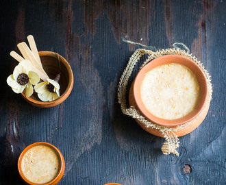Kolkata r Lal Mishti Doi / Calcutta style Sweet Yogurt
