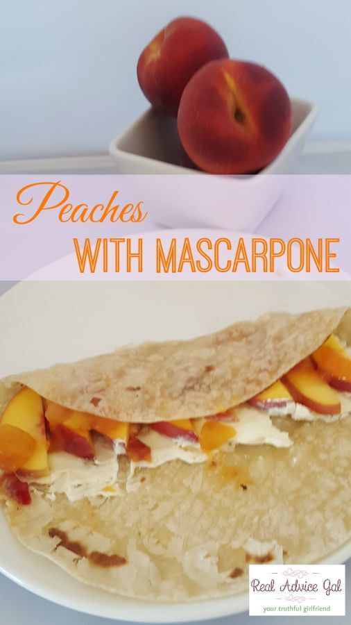 Healthy Snack Recipes Kid: Peaches with Mascarpone Recipe