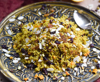 Persian (Iranian) Jeweled Basmati Rice Pilaf