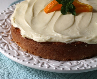 Cinnamon Roll Cake with Orange Cream Cheese Icing