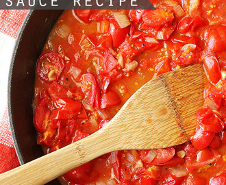 Homemade Spaghetti Sauce:  15 Minute Recipe