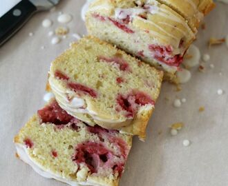 Raspberry Lemon Bread with Lemon Glaze