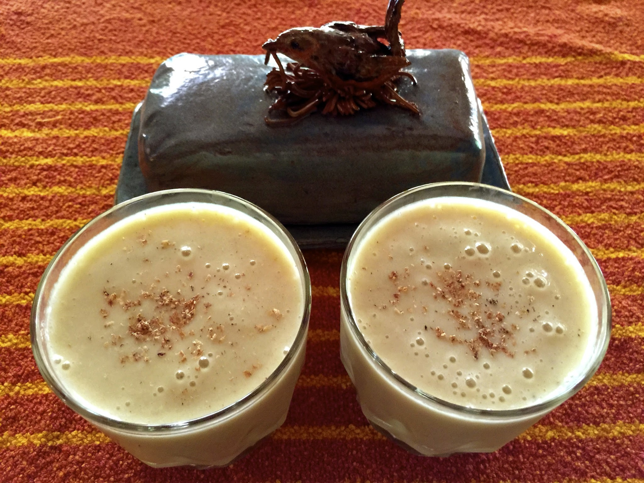 Pineapple Banana Smoothie with Nutmeg