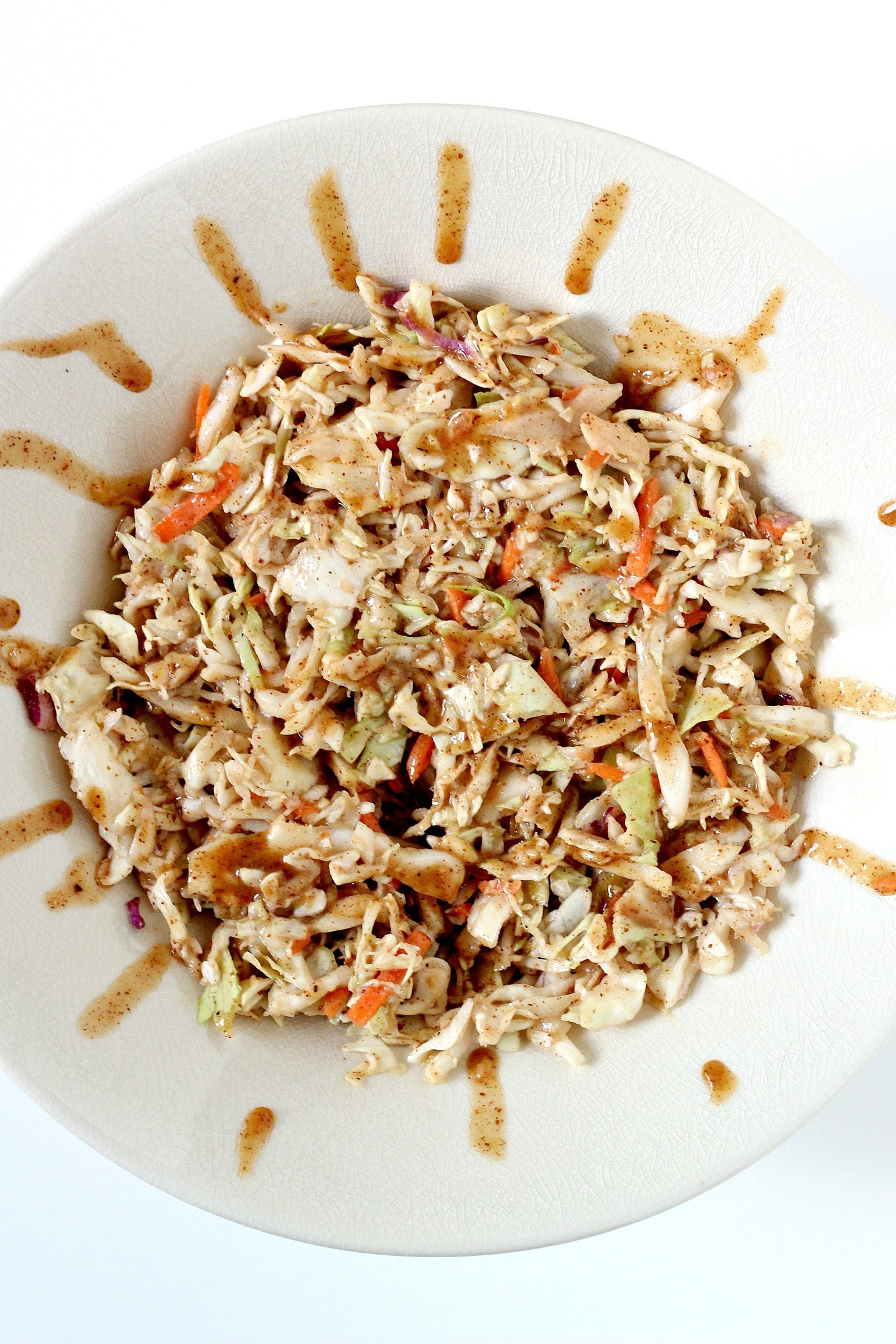 "Paleo Cabbage Recipe with ""Peanut"" Dressing"