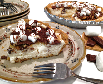 Easy No Bake S'more Cheesecake Pie