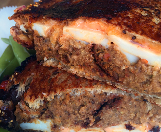 Leftover Vegan Meatloaf Grilled Cheese Sandwich with Mississippi Come Back Sauce & a Vegan Cheese Review