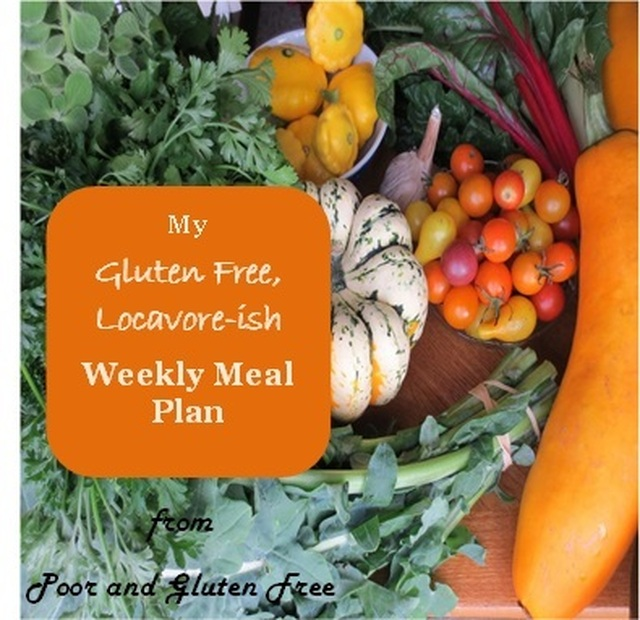 My Gluten Free Weekly Meal Plan: August 30 - Sep 5, 2015 (and a 33hr power outage!)