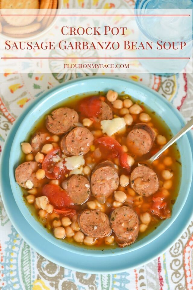 Crock Pot Sausage Garbanzo Bean Soup