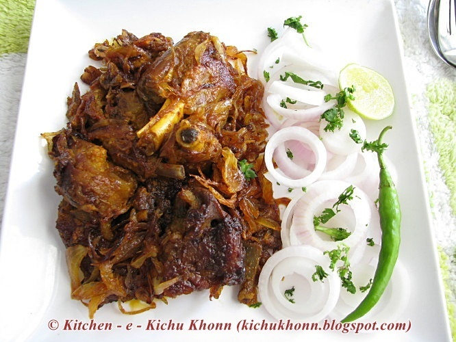 Mutton fry ... sweet, sour, spicy .... ( the way I make and like it )