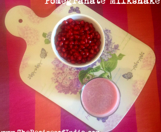 Pomegranate Milkshake Recipe | How to Make Pomegranate Milkshake