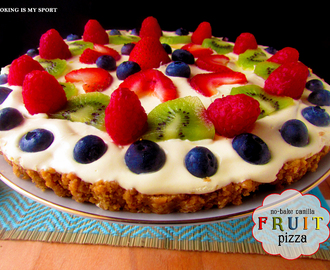 No-Bake Vanilla Fruit Pizza