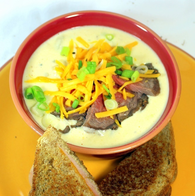 Cheesy Steak and Potato Soup - 52 Soup, Stew and Chowder Recipes