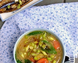 Japanese Miso Noodle Soup for #Food of the World