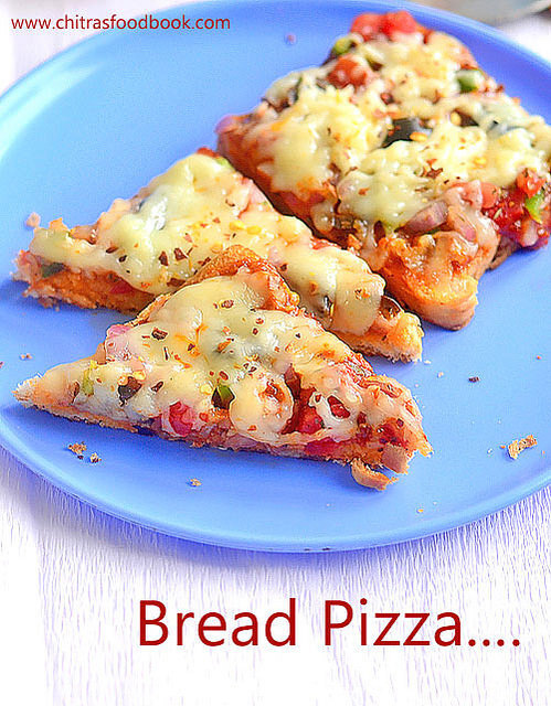 Bread Pizza Recipe On Tawa,Oven, Microwave With Video