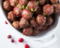 Low Carb Cranberry Party Meatballs