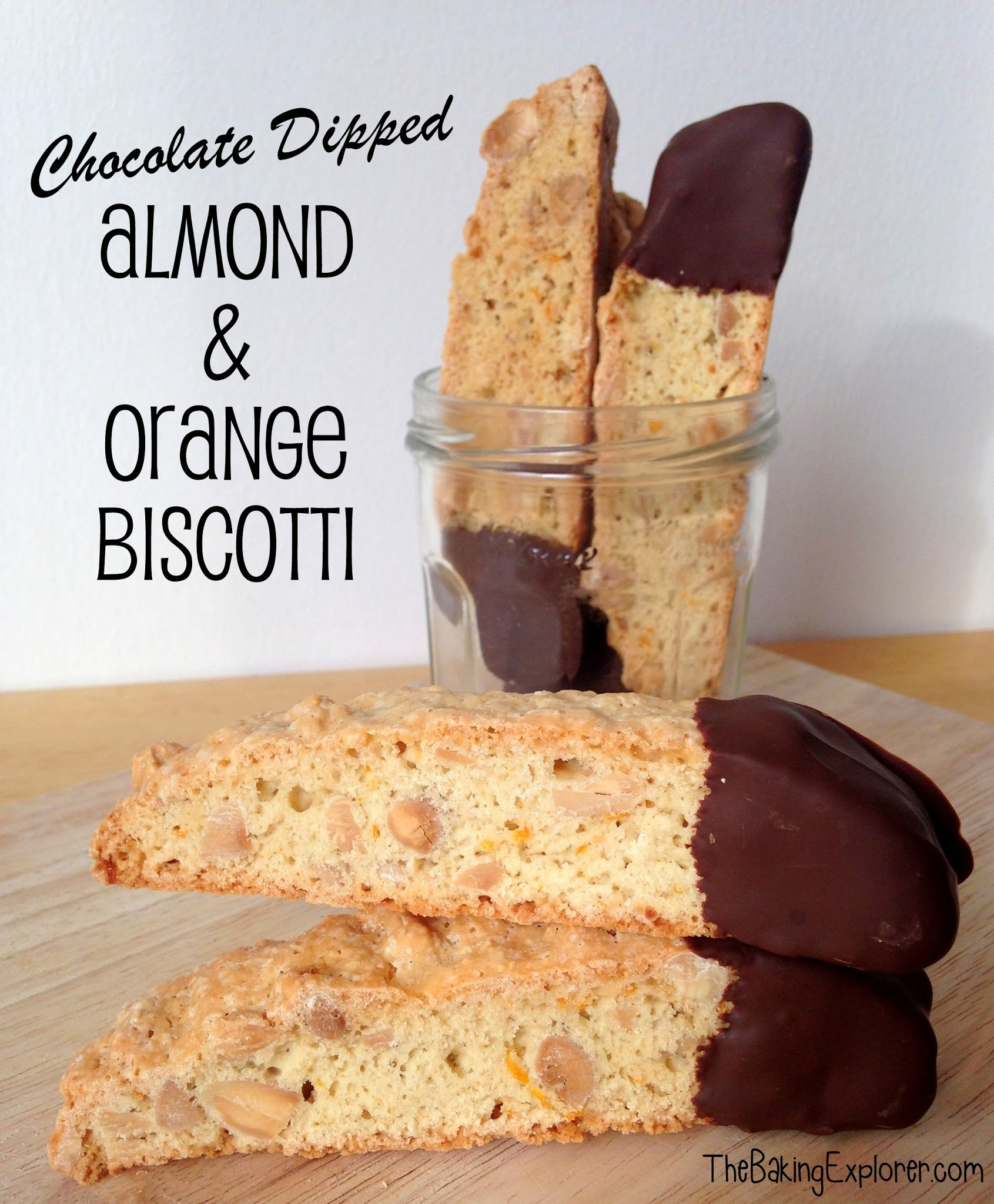 Chocolate Dipped Almond & Orange Biscotti: GBBO Week #2
