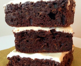 Sweet Potato Brownies with Honey Cream Cheese: GBBO Week #5