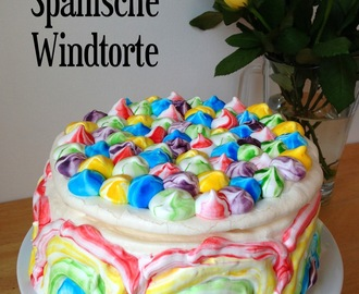 Rainbow Spanische Windtorte: GBBO Week #4