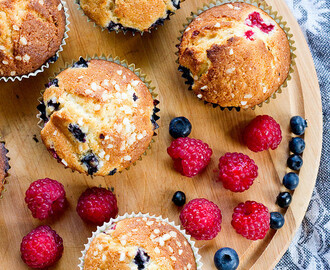 Berry muffins, fit for the Queen
