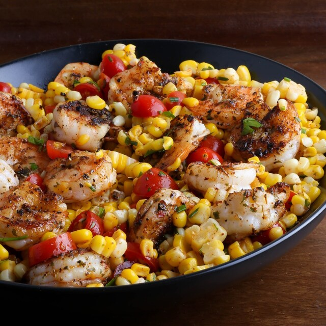Spicy Shrimp and Corn Salad with Lime Vinaigrette