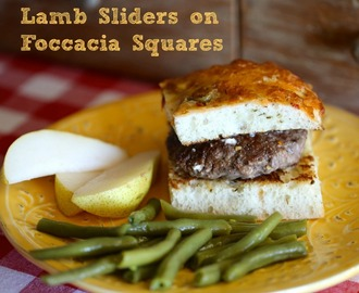 Quick and Easy Lamb Sliders on Foccacia Squares