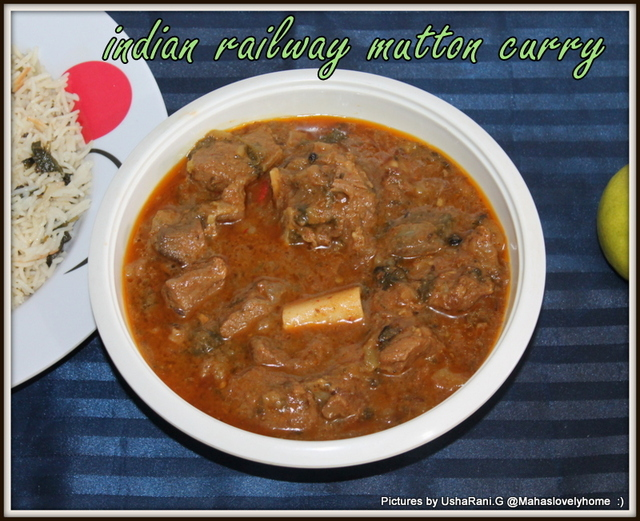 Indian Railway Mutton Curry | Mutton gravies | South indian non veg curries for rice and rotis |  Quick n easy mutton curry - pressure cooker method