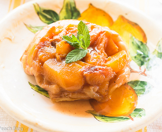 Quick and Easy Peach and Nectarine Tarte Tatin