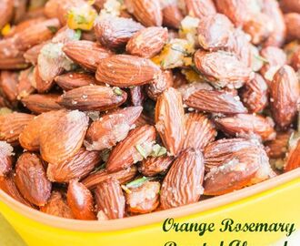 Orange Rosemary Roasted Almonds