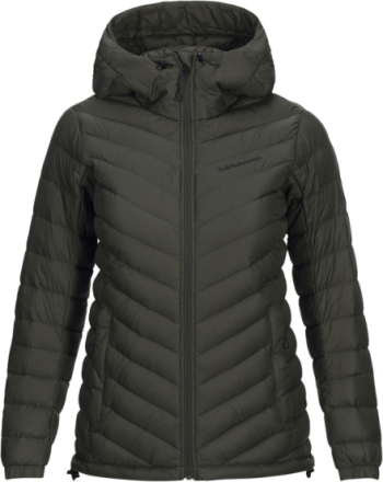 Peak Performance W's Frost Down Hooded Jacket Forest Night 2018 XS Vandringsjackor