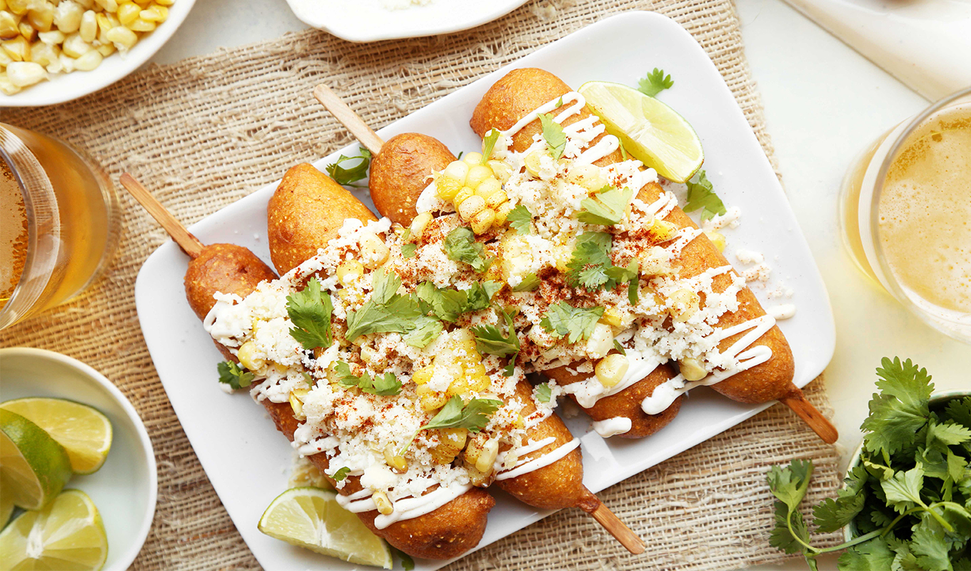 Mexican Street Corn Dogs