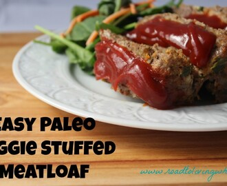 Easy Paleo Veggie Stuffed Meatloaf
