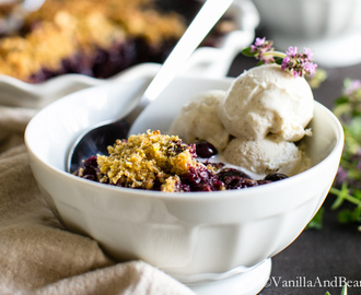 Blueberry Lemon-Thyme Cornmeal Crisp
