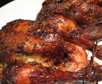 Grilled Cornish Hens with Lemon Soy Glaze; end of an era