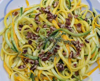 Zucchini 'Noodle' Salad with Lemon-Thyme Vinaigrette