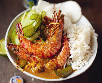 Thaise rode curry met garnalen