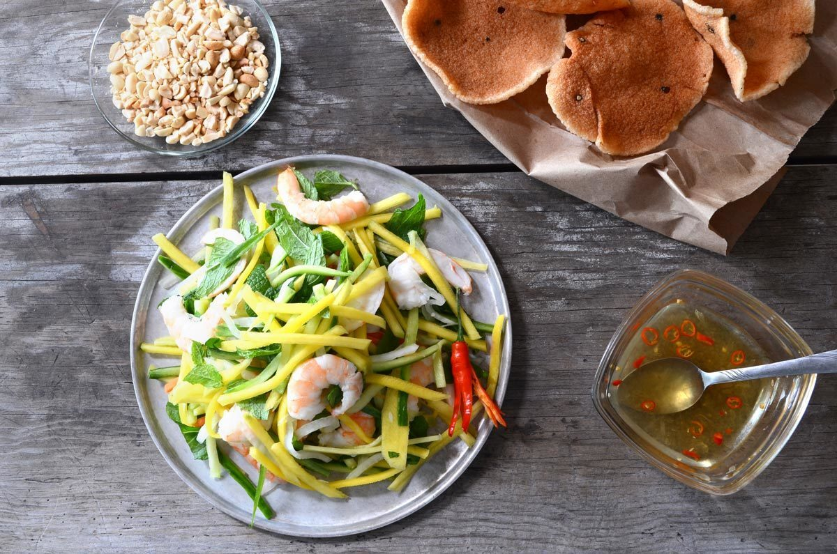 Vietnamese Green Mango Salad with Shrimp (Gỏi Xoài)