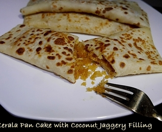 Madakkappam/ Kerala Style Pan cake with coconut Jaggery filling