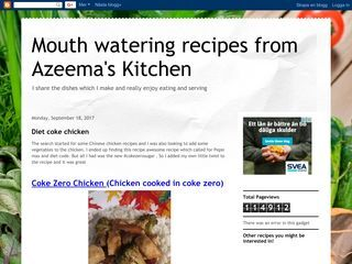 Mouth watering recipes from Azeema's Kitchen