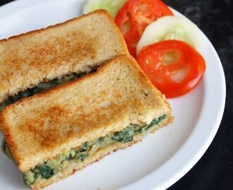 Spinach Potato Sandwich