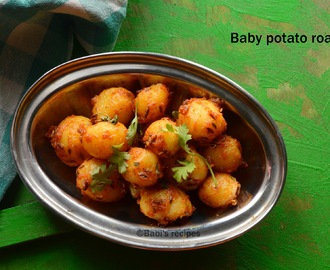 Baby potato roast | Potato jeera roast | Side dish for rice or roti
