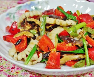 Stir Fried Squid with Black Bean Sauce Recipe
