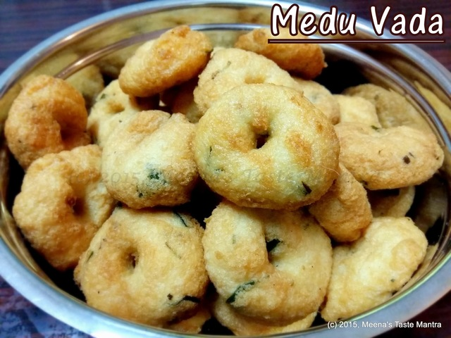 Medu Vada - a delicious snack made with Urad Dal!